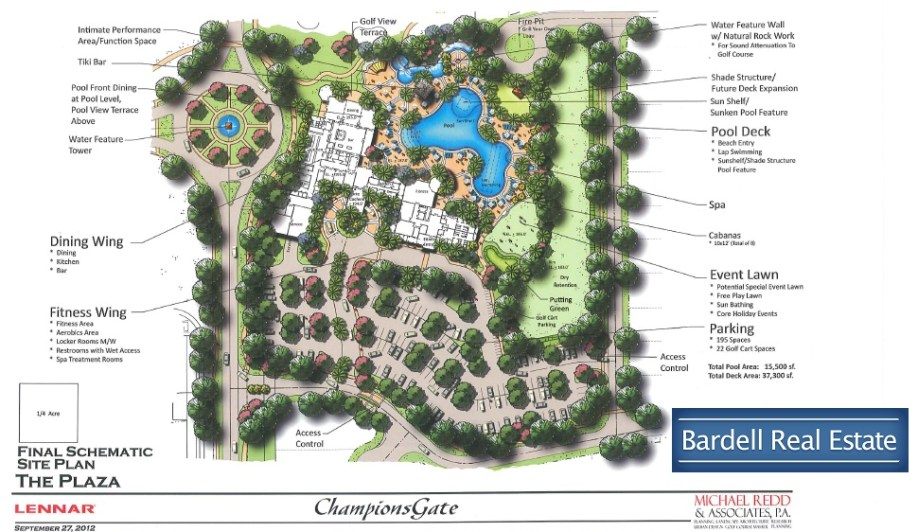 Site Map for The Plaza at Champions Gate, Orlando Florida