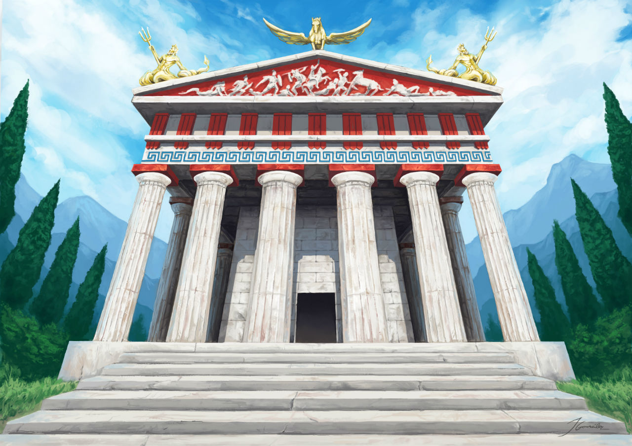 Greek Temple Champions of Gods