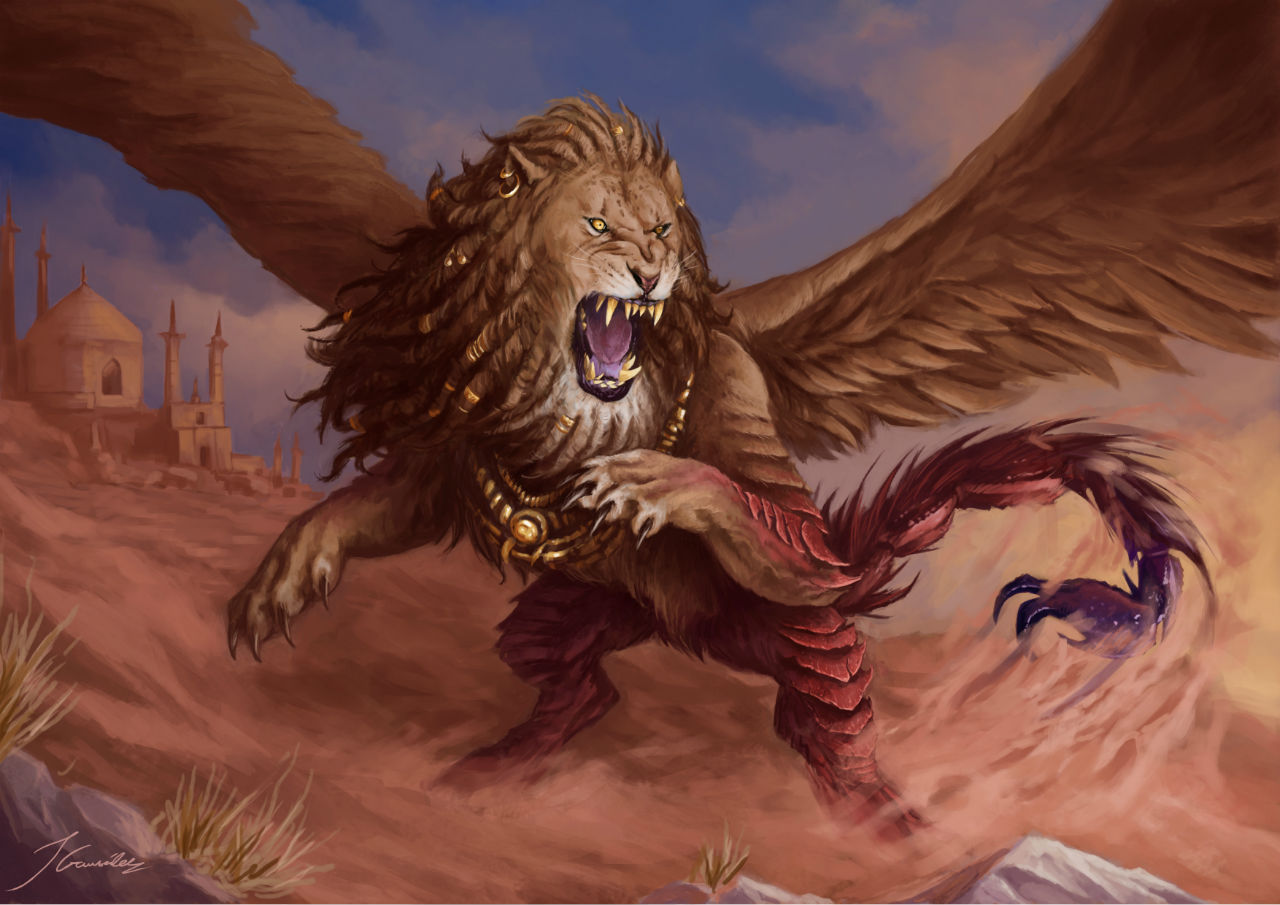 Persian Manticore Champions of Gods
