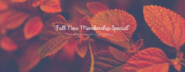 Fall New Membership Special