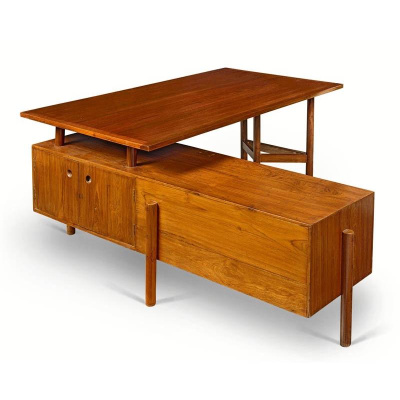 desk pierre jeanneret teak desk