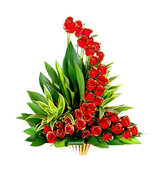 CF Gorgeous Roses Basket