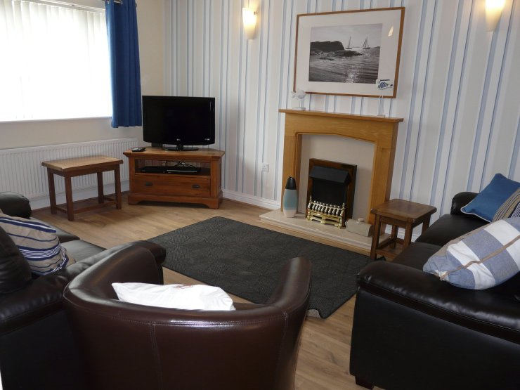 The lounge at Chandlers View holiday home in Whitby England