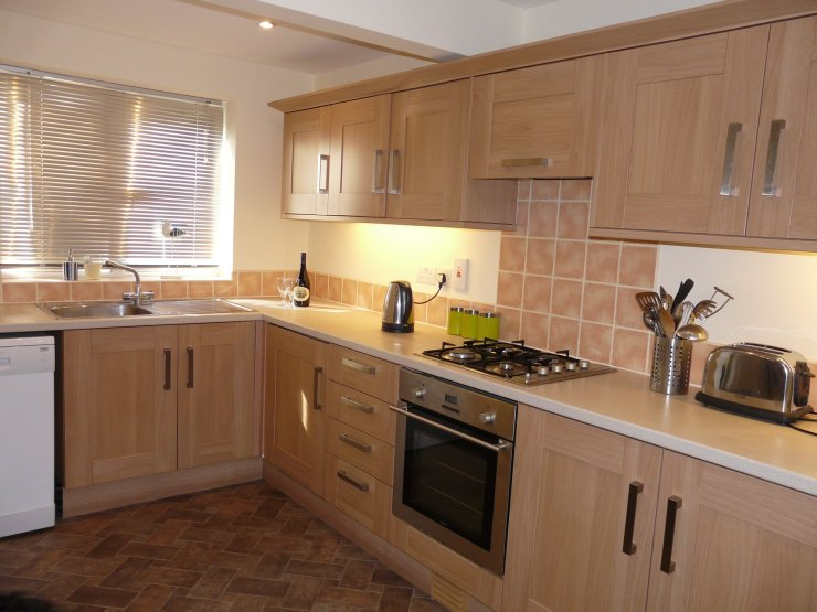 The kitchen at Chandlers View holiday cottage in Whitby England