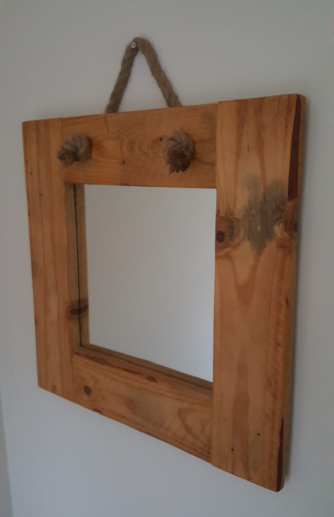 Driftwood mirror at Chandlers View holiday home in Whitby, England