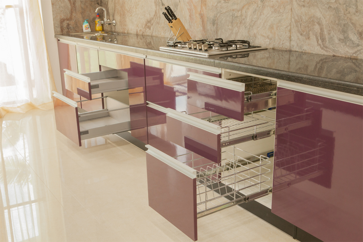 Modular Kitchen Designs Baskets In Bangalore