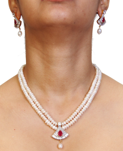 Double Line White pearl set