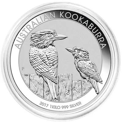 """Côté face de la pièce en argent """"Kookaburra"""" de 1Kg - Australie"""