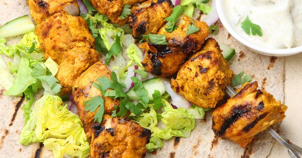 Σουβλάκι Κοτόπουλο Tandoori!