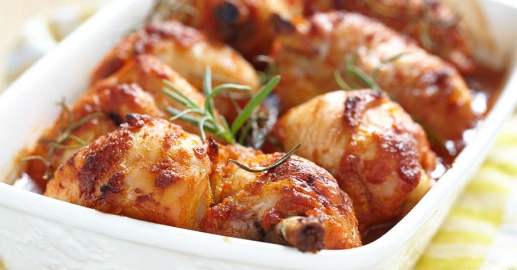 Κοτόπουλο μπούτι με μουστάρδα και μέλι