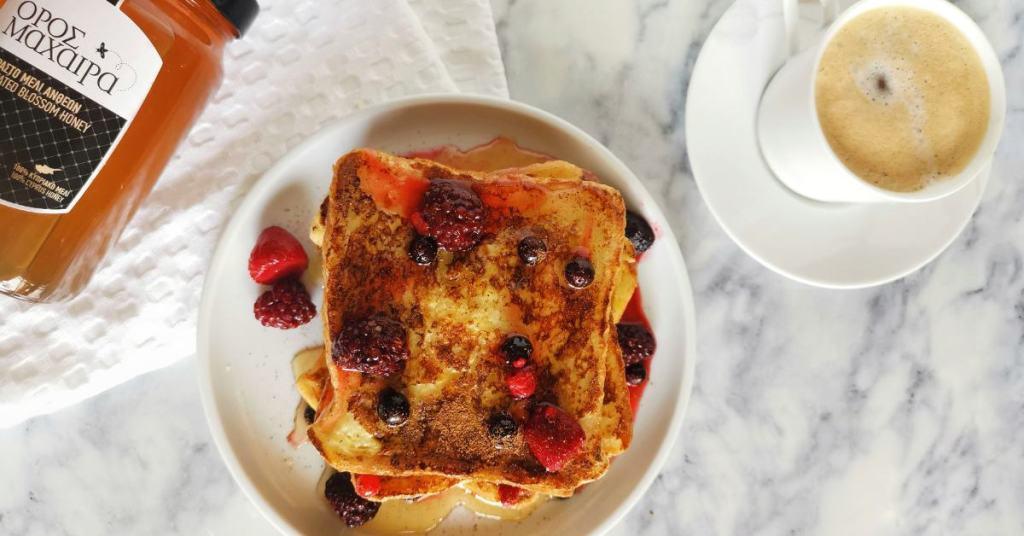 French Toast με μέλι Oros Machaira