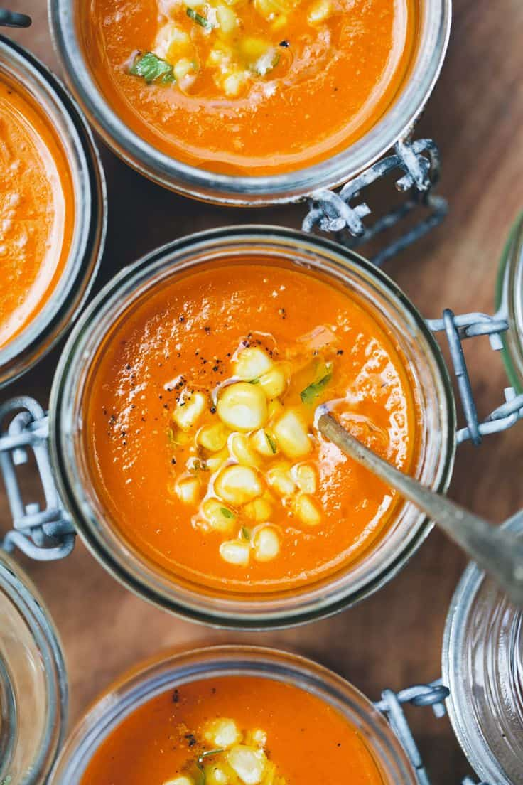 Carrot Tomato And Coconut Soup