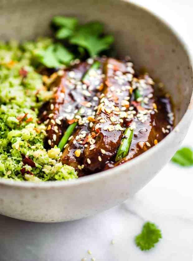 Mongolian Beef Broccoli Rice Bowls