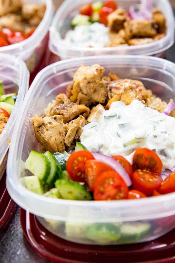 Greek Chicken Bowls (Meal Prep Easy)
