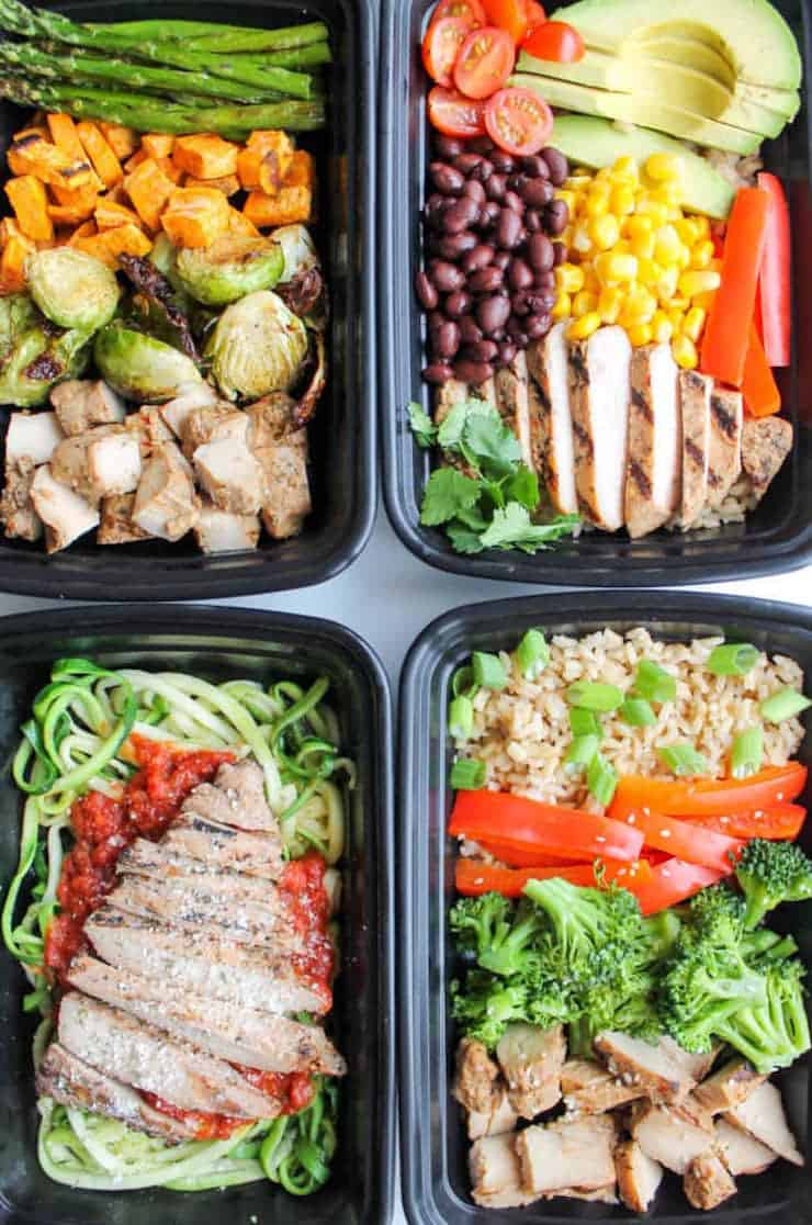 Easy Chicken Meal Prep Bowls- 5 Ways