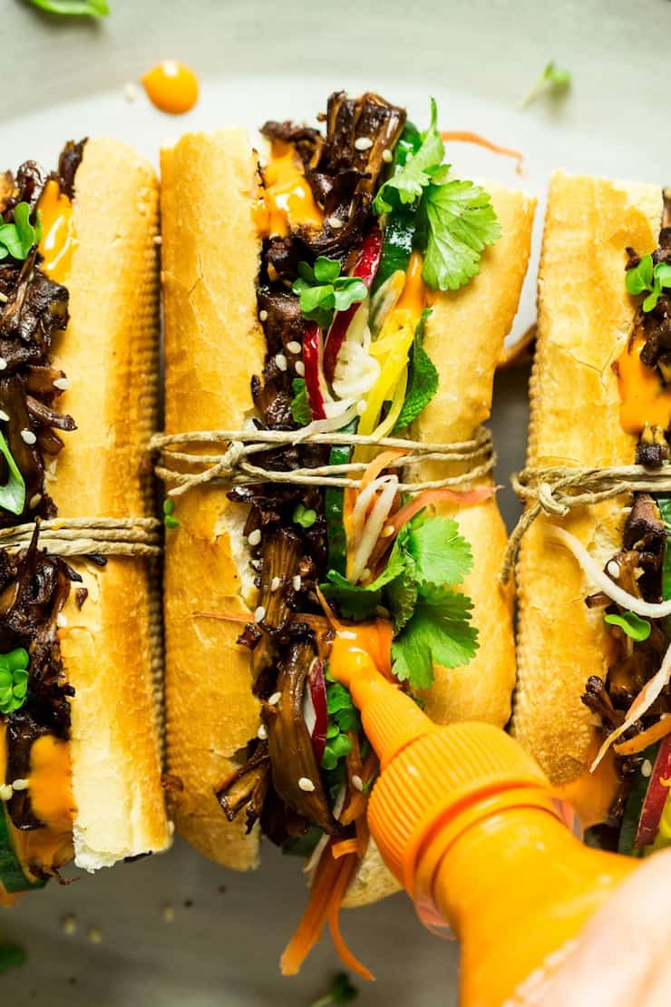 Vegan Pulled Pork Banh Mi
