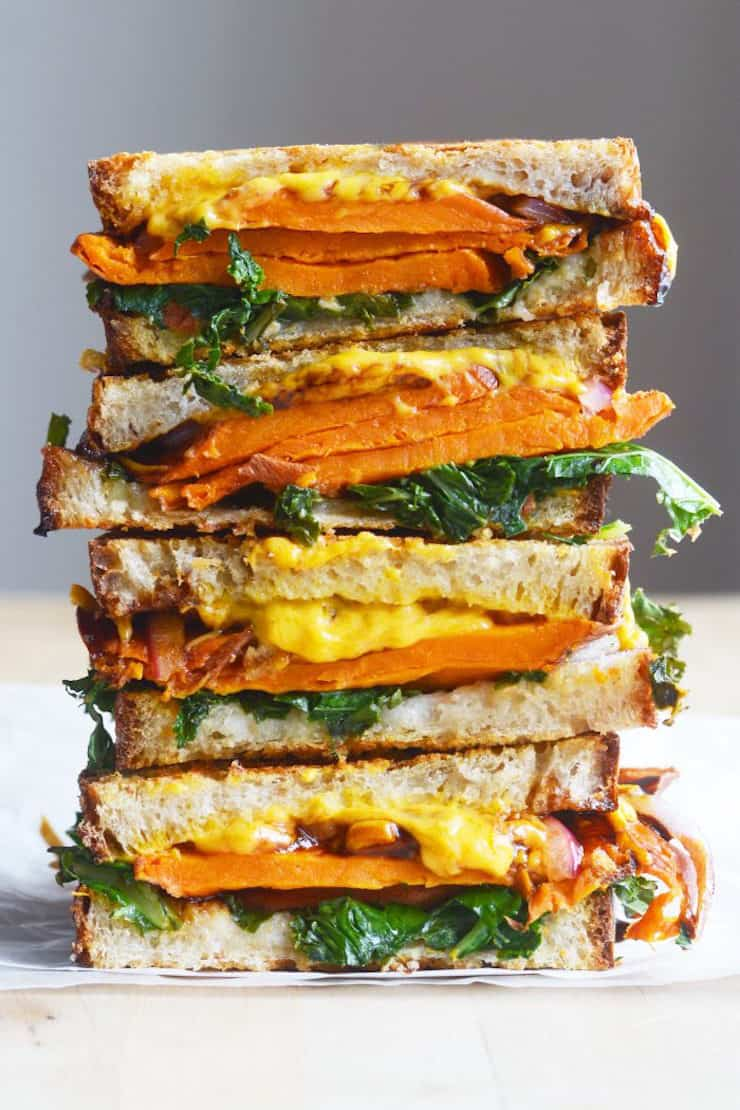http://thecolorfulkitchen.com/2018/01/15/vegan-balsamic-sweet-potato-grilled-cheese/