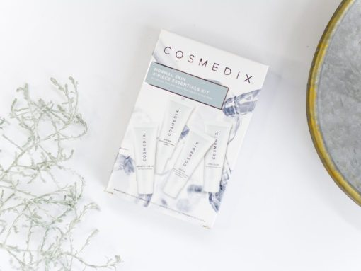 Cosmedix Skincare Normal Starter Kit with Benefit Clean cleanser, Affirm firming serum, Define resurfacing cream and Emulsion Moisturizer
