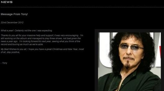 Mensaje de Tommy Iommi