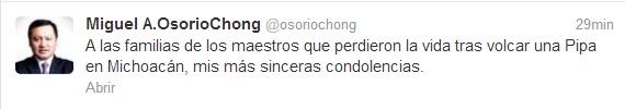 Twitter CNTE Michoacán Osorio Chong