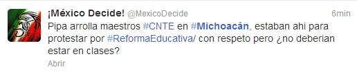 Twitter CNTE Michoacán3