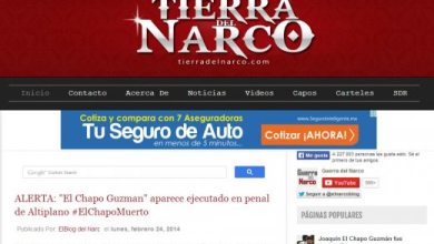 Tierra del Narco Chapo muerto