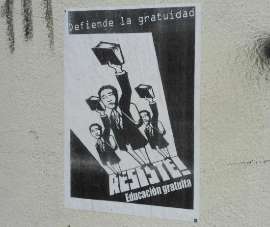 Estudiantes unidos por la defensa de la educación pública y gratuita en Michoacán