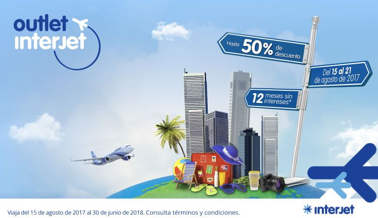 Outlet Interjet viajes agosto