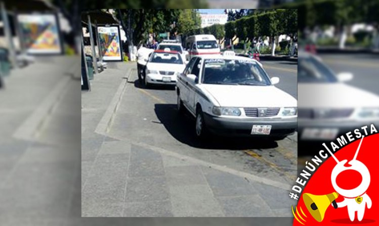 denunciamesta-parada-base-taxis-Morelia