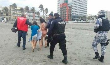 playa-ahogar-Veracruz-mamá-hijos
