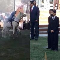 niño cae representacion Madero