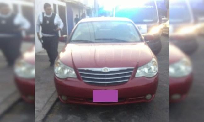 auto robado Morelia policía