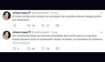 Julieta López Silvano Aureoles Pascual Sígala
