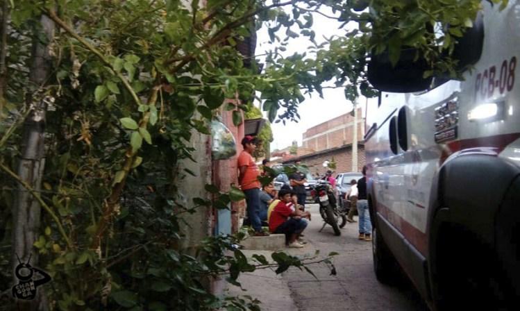 joven ahorcado Los Reyes Michoacán