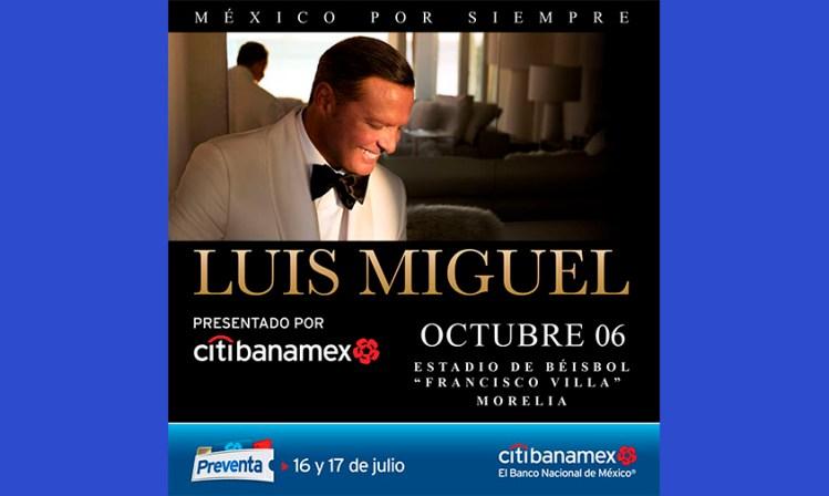 Luis Miguel preventa Morelia
