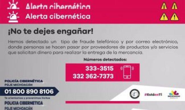 alerta cibernética Michoacán