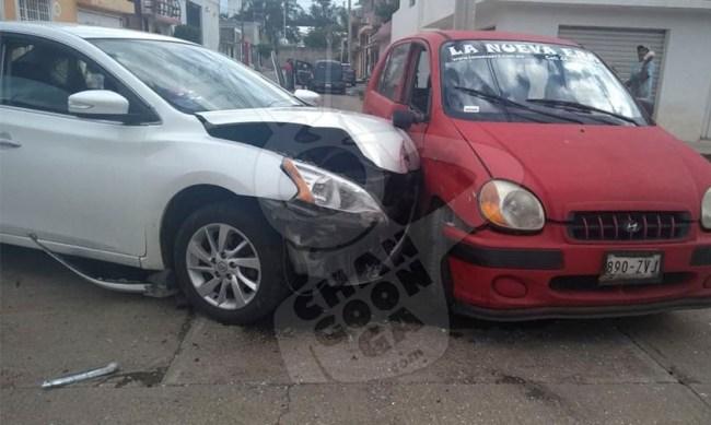 autos choque Morelia niña mujer lesionadas a