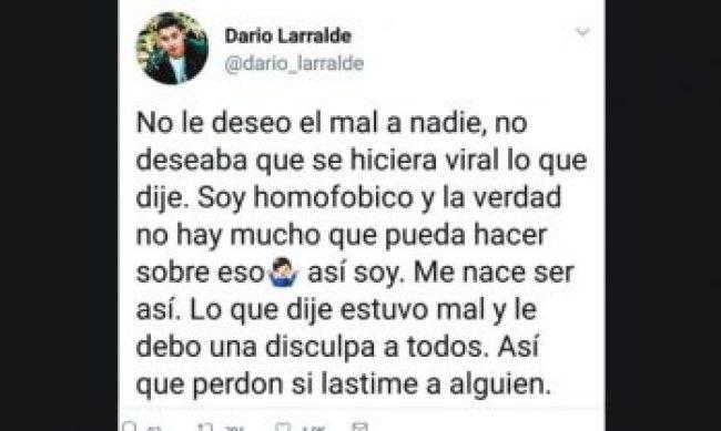 Dario Larralde homofóbico México