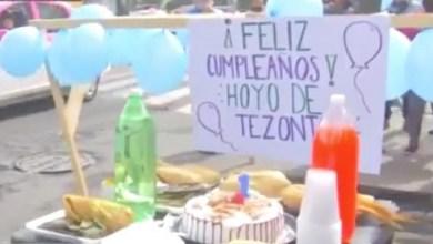 Photo of #CDMX Le Celebran Su 1er Cumpleaños A Bache, Con Pastel, Tamales Y Refresco