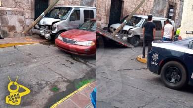 Photo of #Morelia Provocan Choques En El Centro, Se Estampan En Poste Y Se Fugan