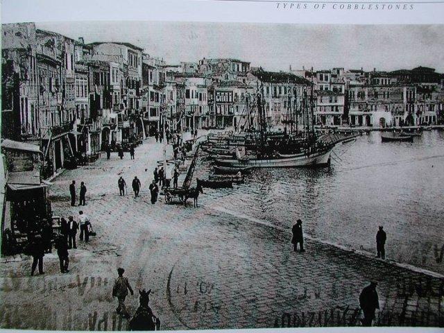 1932 Χανιά προκυμαία Κολόμπο με τα σαχνισιά