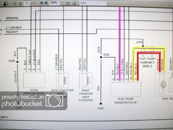 2000 ford mustang fuel pump wiring diagram  more wiring