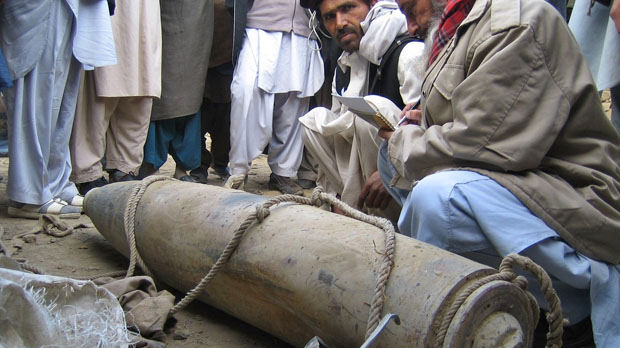 Unexploded missile discovered by Pakistanis (Reuters)