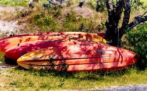 Kayaks on Chincoteague Island