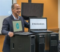 HP's Jim Zafarana shows off the company's new workstation lineup