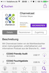 Podcast-App von Apple