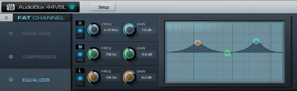 Einstellungen im Bereich Equalizer der Presonus AudioBox 44VSL