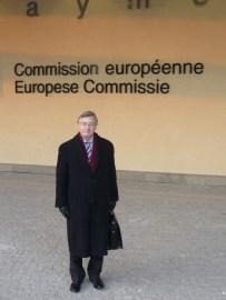 Sir Philip Baillache outside the Berlaymont
