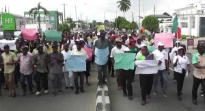 Image result for Nigerian Textile workers protest power outage