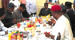 Image result for APC GOVERNORS MEET WITH BUHARI IN LONDON THE PRESIDENT'S HEALTH